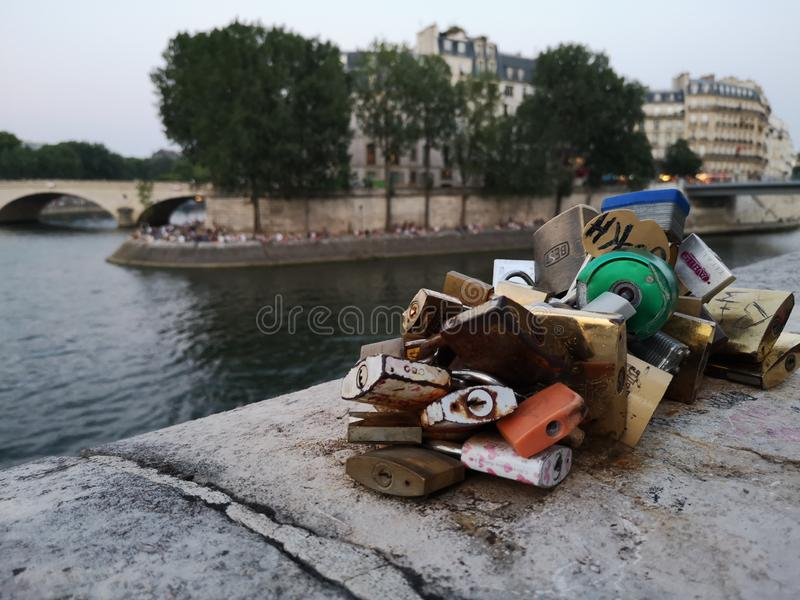 Love in Paris stock photography