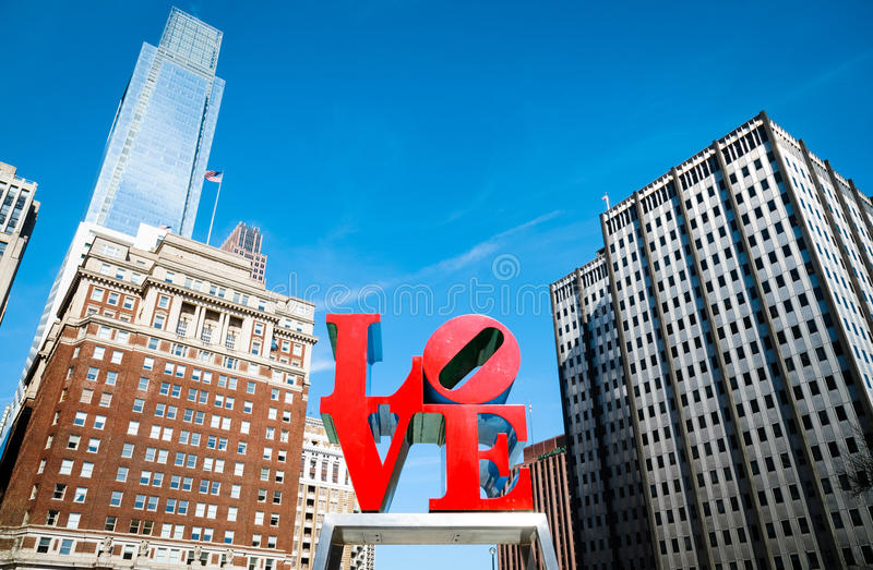 LOVE Park. Philly PA Monument royalty free stock photos