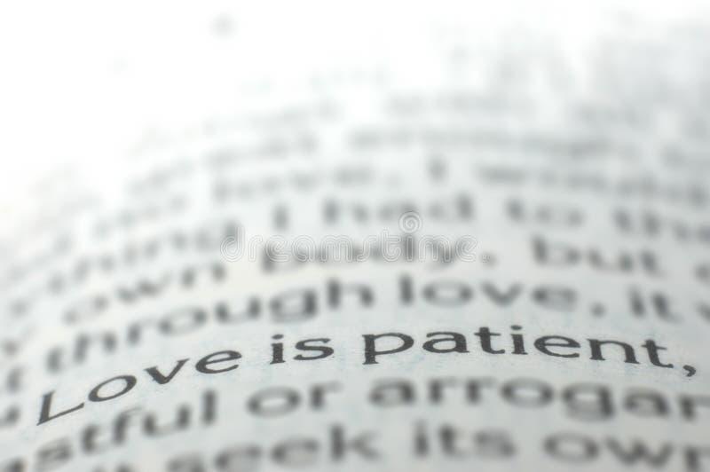 Love is patient stock photos