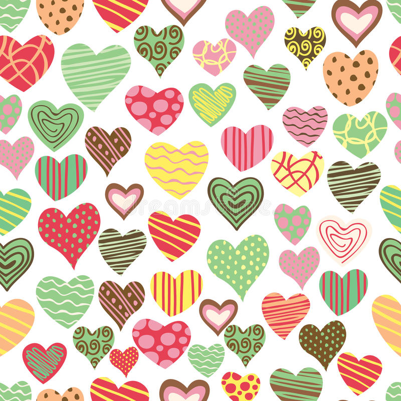 Love pattern vector illustration