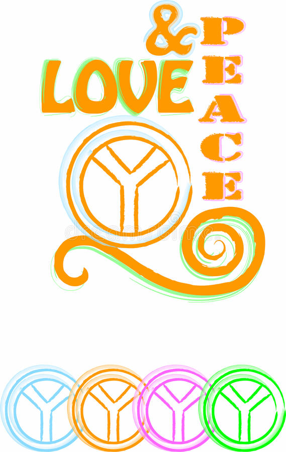 Download Love & peace stock vector. Illustration of vintage, love - 9844749