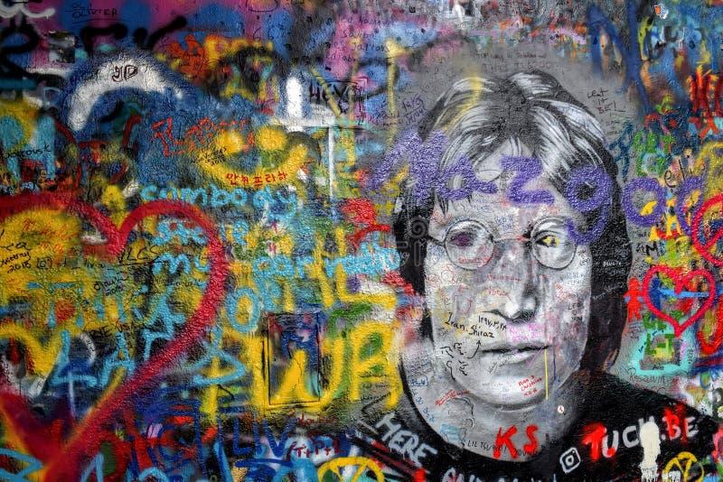 Love and peace with John Lennon stock photo