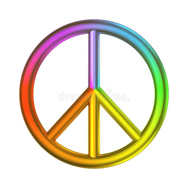 Love Peace Freedom Sign Rainbow Color Stock Illustration