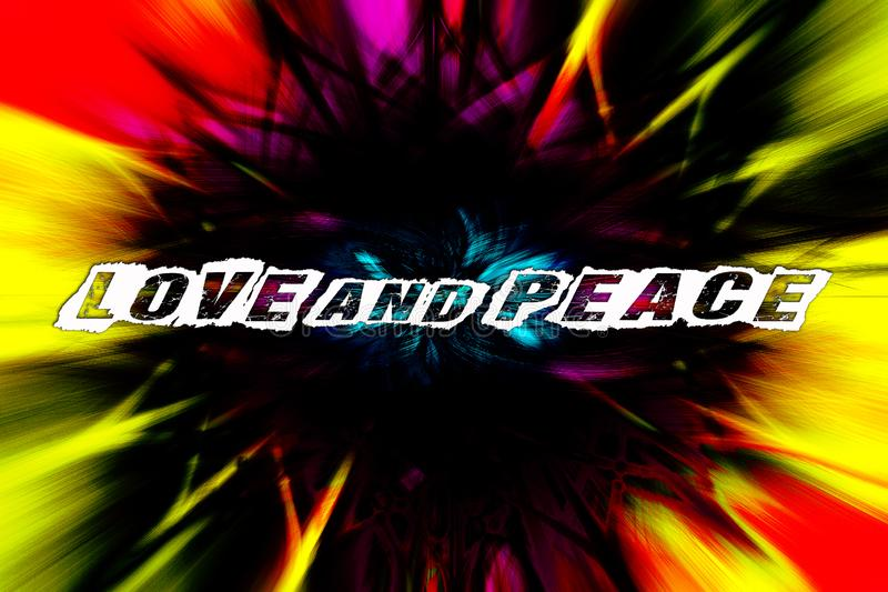 Love and peace text quote Twirl colorful effect 4000 with 6000 pixel background wallpaper fine art digital photography prints stock illustration