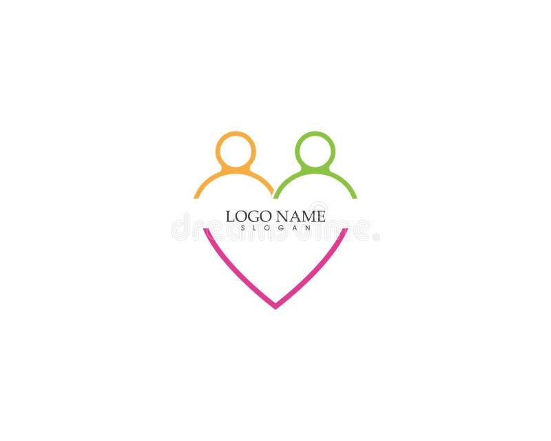 Love people icon vector template. Adoption arrow art birth birthday cardiac care celebrate chalk clip collection congratulation decoration design doodle family stock illustration