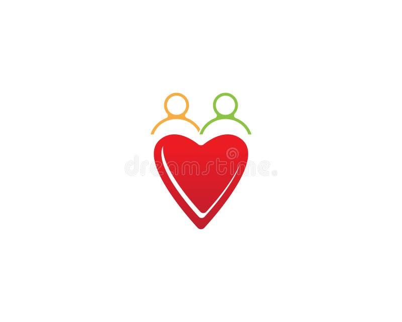Love people icon vector template. Adoption arrow art birth birthday cardiac care celebrate chalk clip collection congratulation decoration design doodle family royalty free illustration