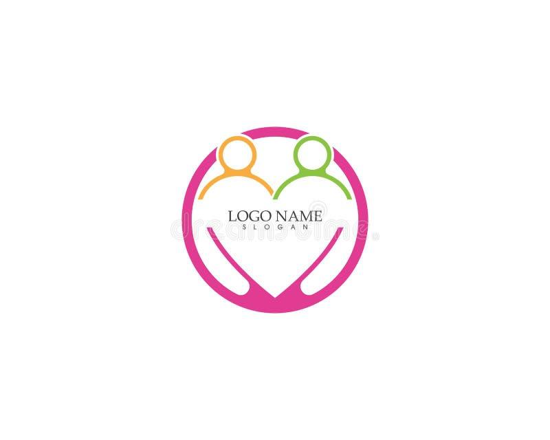 Love people icon vector template. Adoption arrow art birth birthday cardiac care celebrate chalk clip collection congratulation decoration design doodle family vector illustration