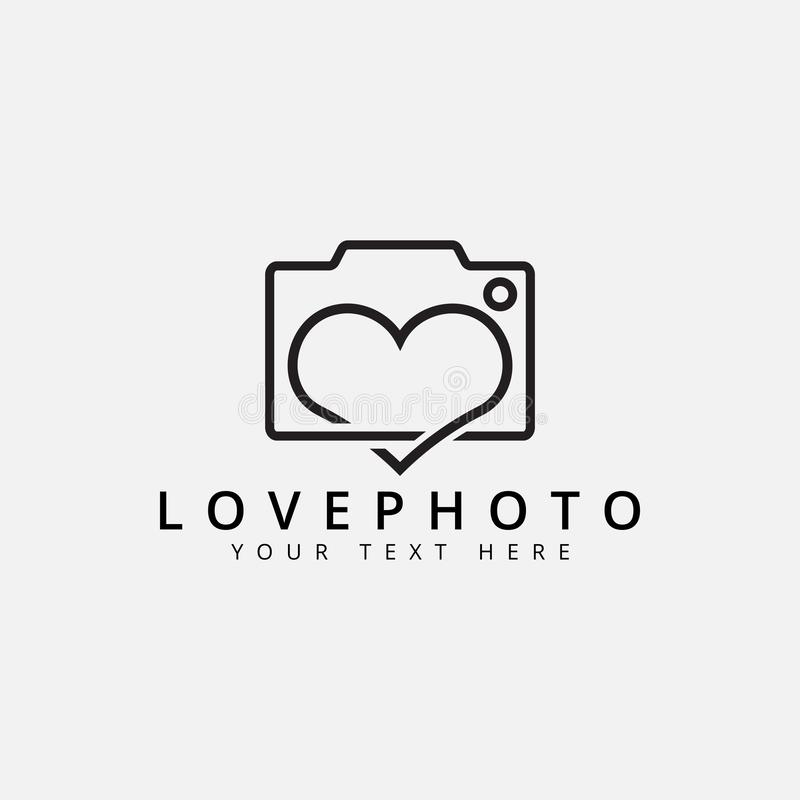 Love photo logo design template vector isolated. Romance, shape, art, fashion, emblem, icon, studio, vintage, cute, web, identity, flash, picture, retro, video royalty free illustration