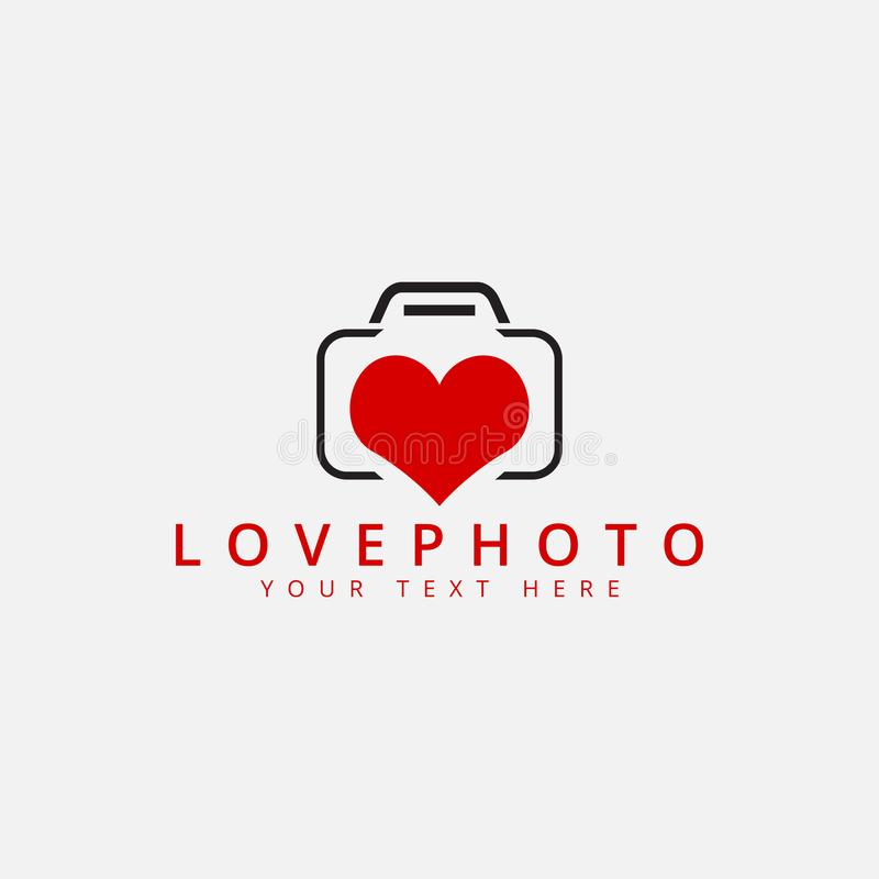 Love photo logo design template vector isolated. Romance, shape, art, fashion, emblem, icon, studio, vintage, cute, web, identity, flash, picture, retro, video vector illustration