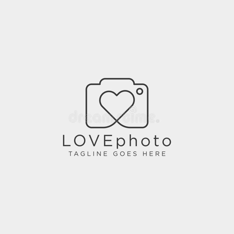 Love photography logo template vector illustration icon element isolated. Vector royalty free illustration