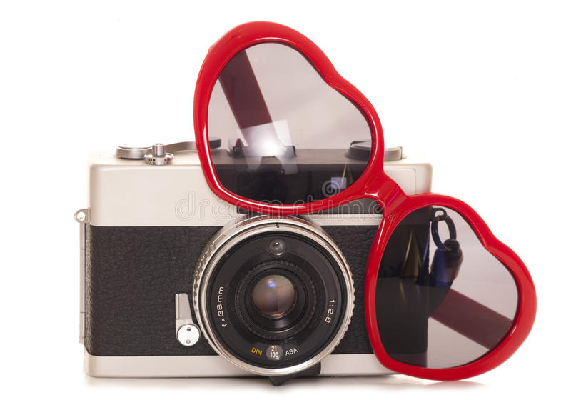 Old camera stock image. Image of white, cutout, vintage ...