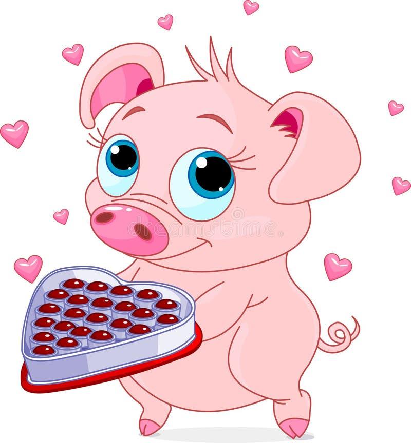 Download Love piglet stock vector. Image of pink, cartoon, illustration - 36001025