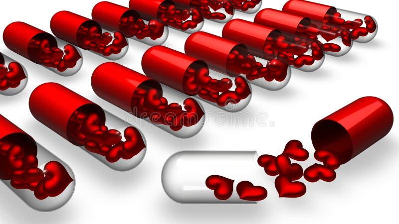 Love pills vector illustration
