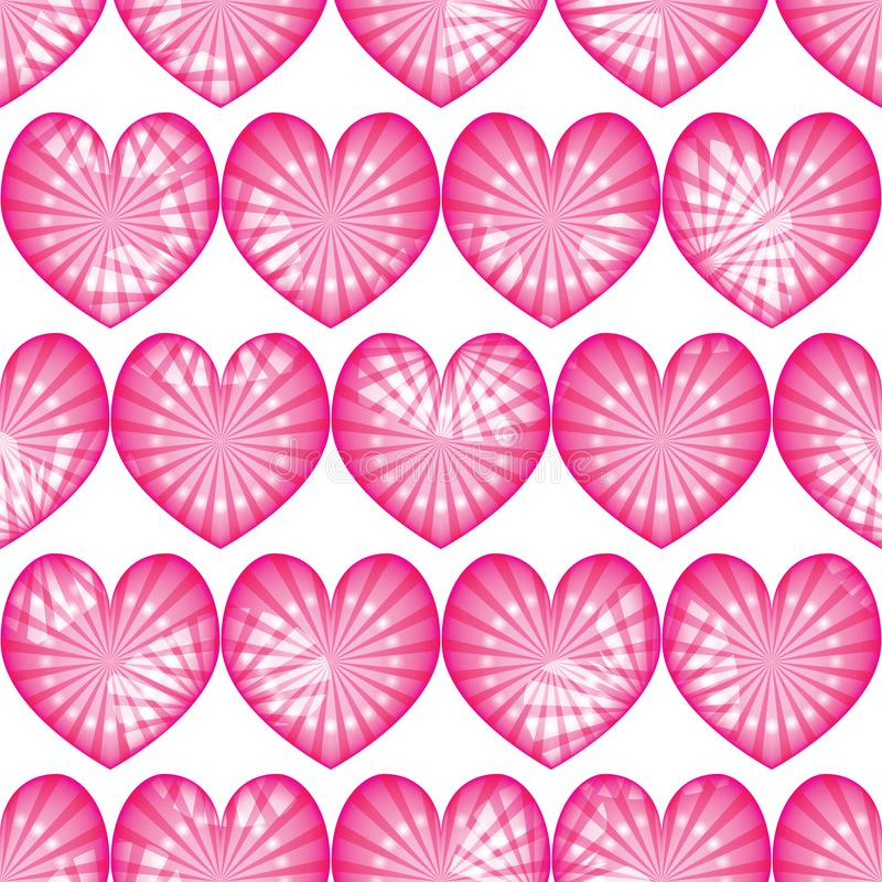 Love pink ray dot symmetry seamless effect CMYK. This illustration is design Love pink ray dot symmetry seamless effect on white color background stock illustration