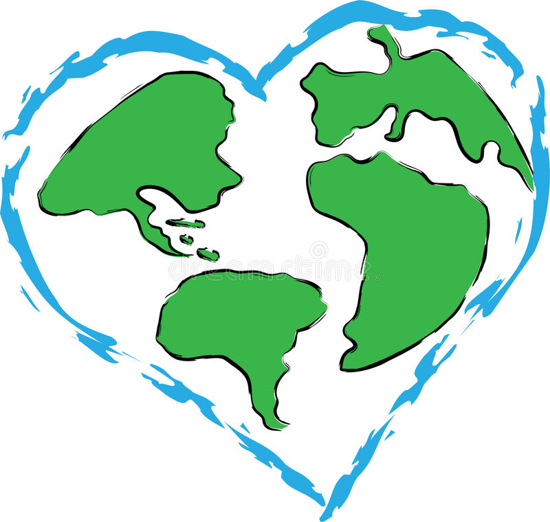 Love For Planet Earth stock images