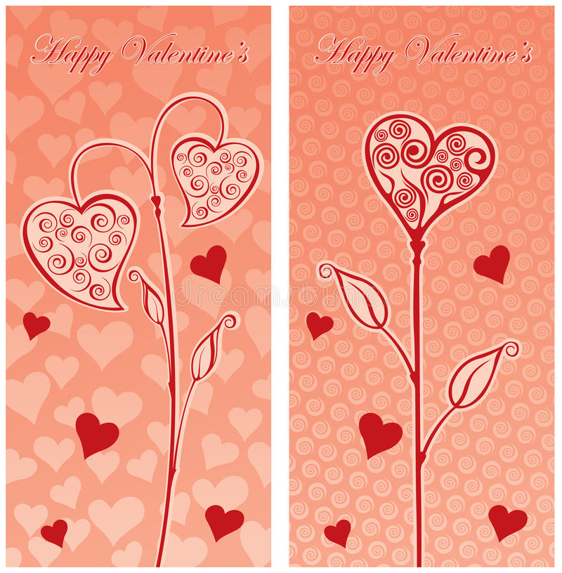 Love post card. Illustration of a love post card vector illustration