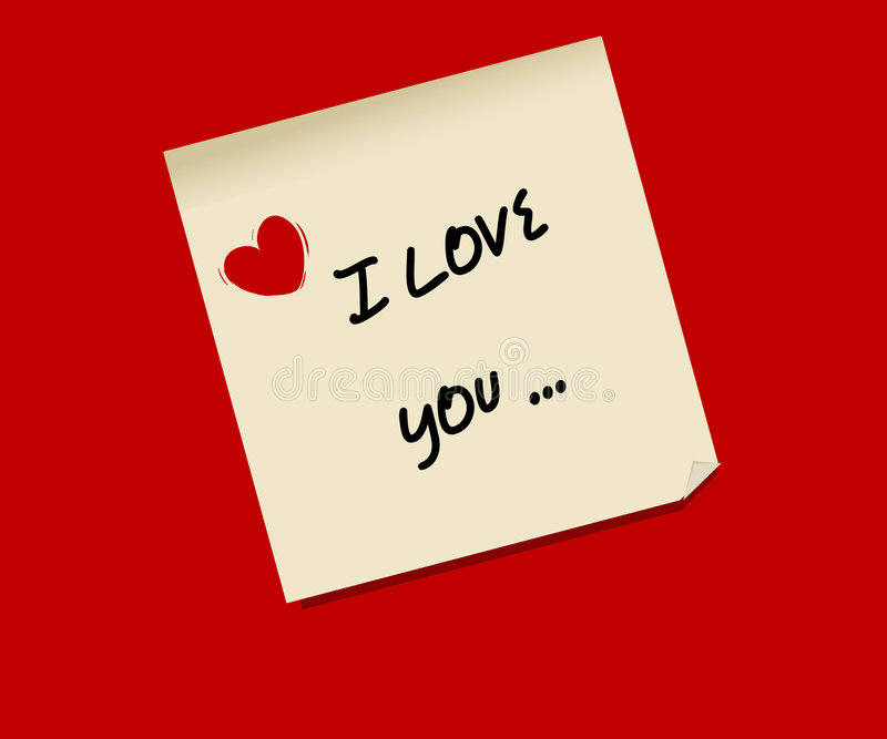 Love postit. Postit post-it love vector net romance vector illustration