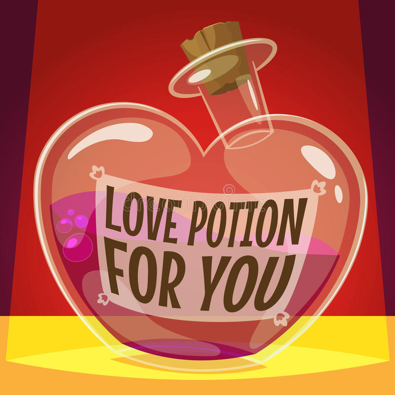 Love potion for you vector illustration