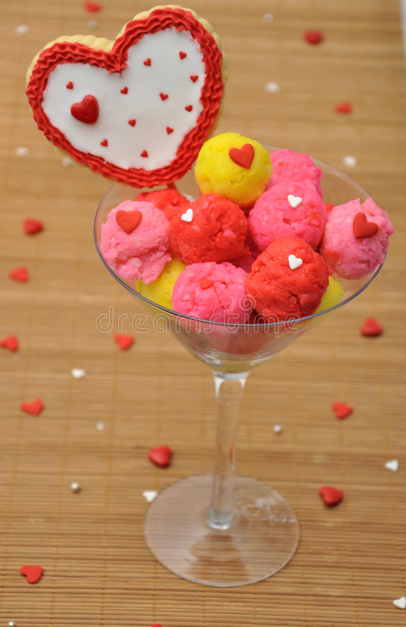 Love present. Pic of an ice cream love present royalty free stock photo