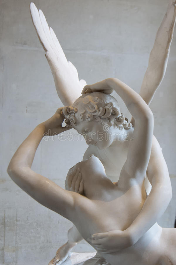 Love and psyche statue