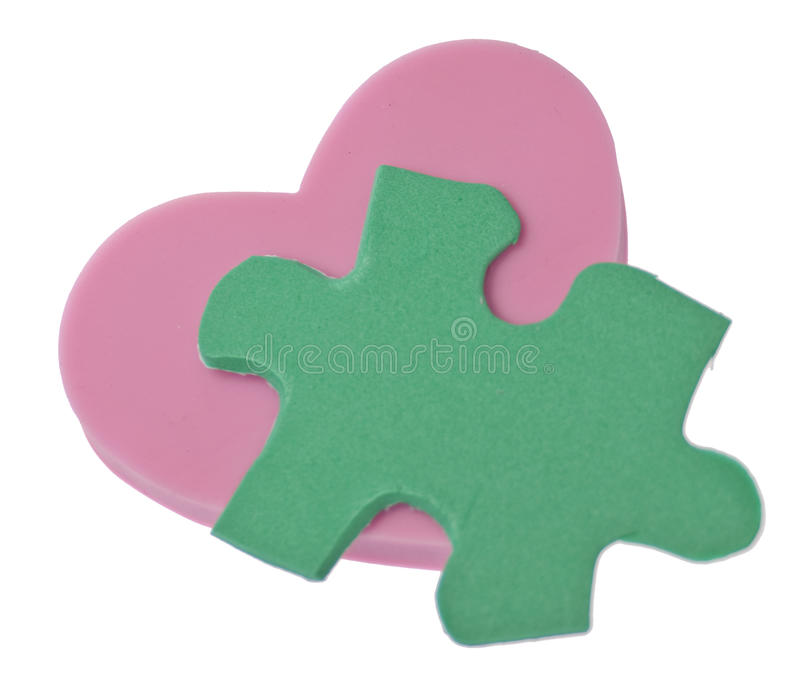 Love Is A Puzzle Stock Photography