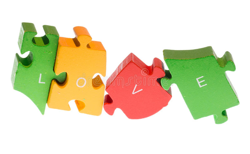 Love puzzle stock images