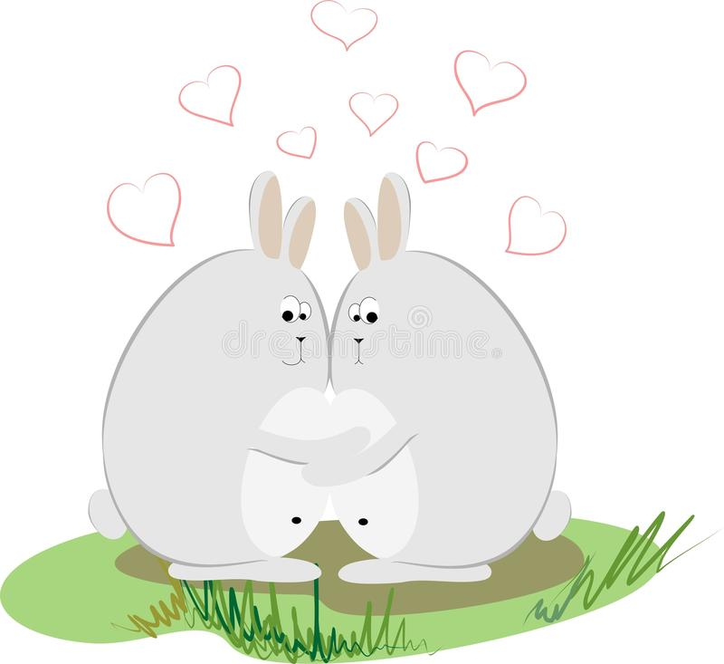 Download Love rabbits stock illustration. Image of holiday, capture - 17892902