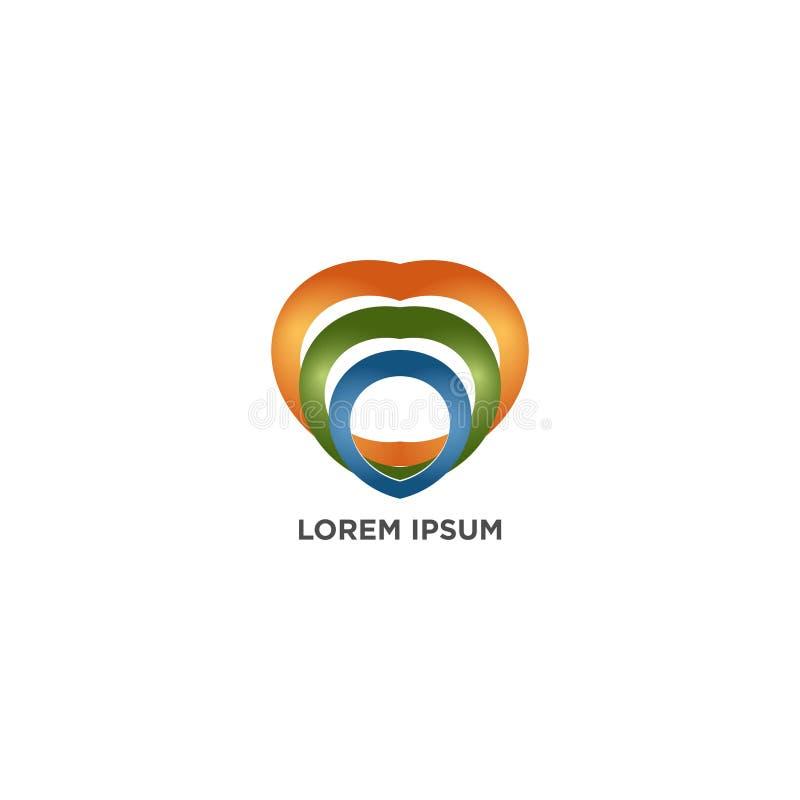 LOVE RAINBOW logo design vector isolated on white background. LOVE RAINBOW logo design vector - isolated on white background vector illustration