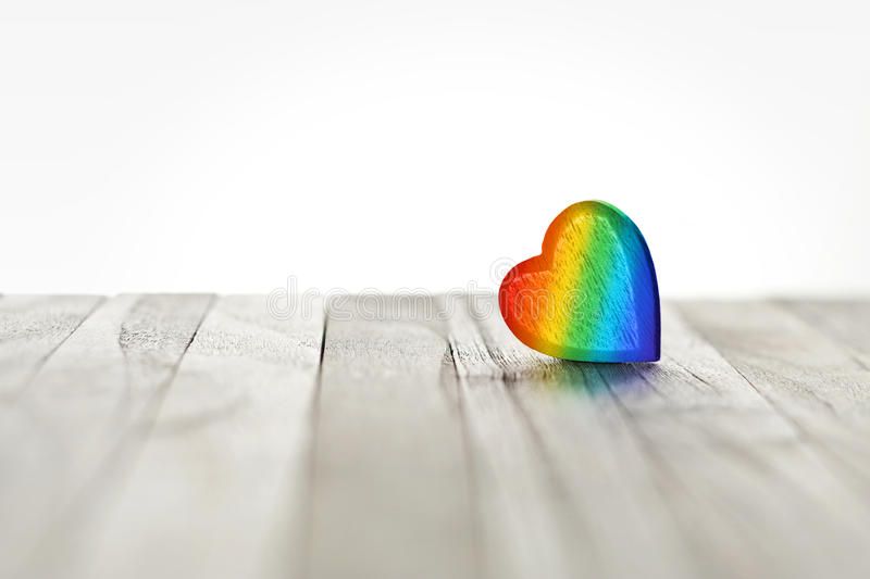 Love Rainbow Heart Background royalty free stock photos