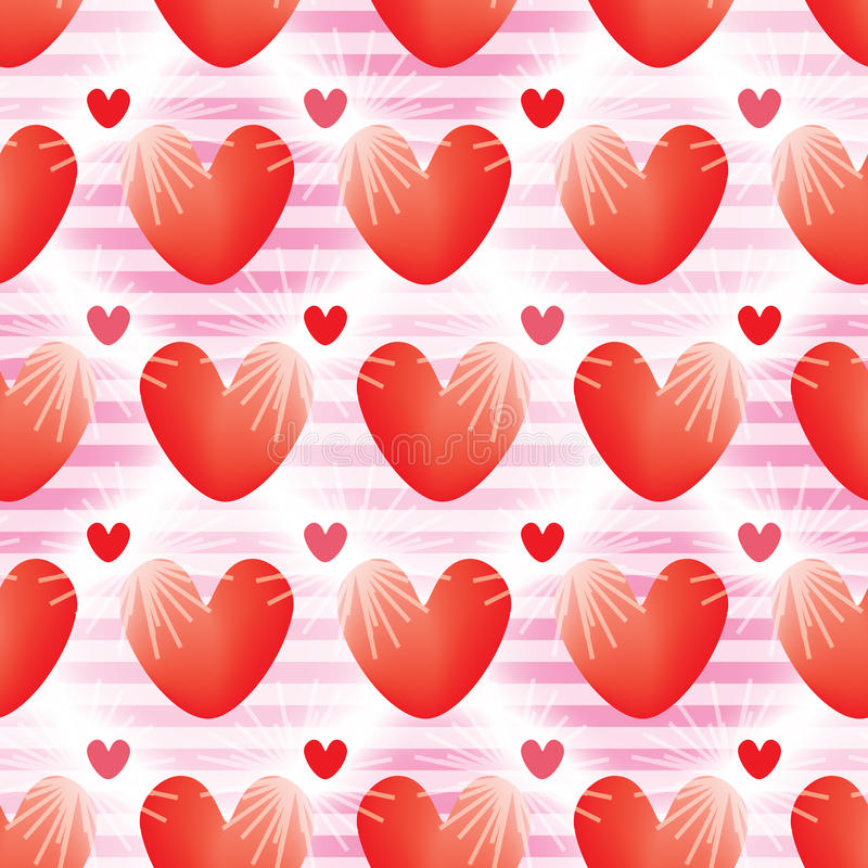 Love ray effect bright seamless pattern vector illustration