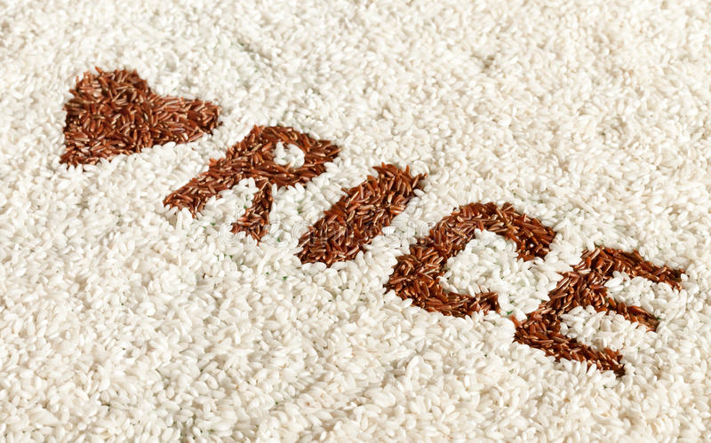 Love Rice Stock Image