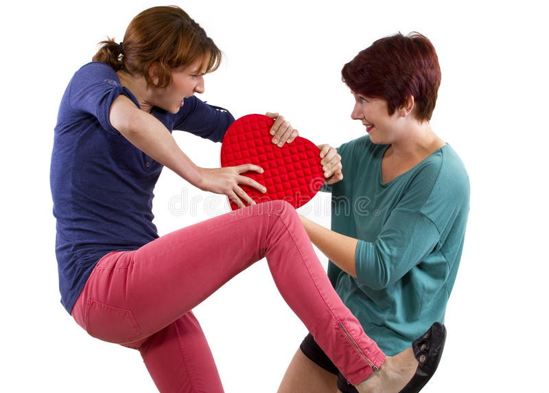 Download Love Rivals stock photo. Image of expression, competitive - 34313128