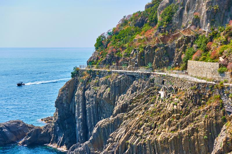 Love Road in Cinque Terre stock image