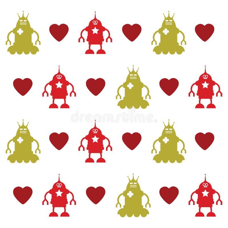 Download Love robots texture stock vector. Image of background - 11527703