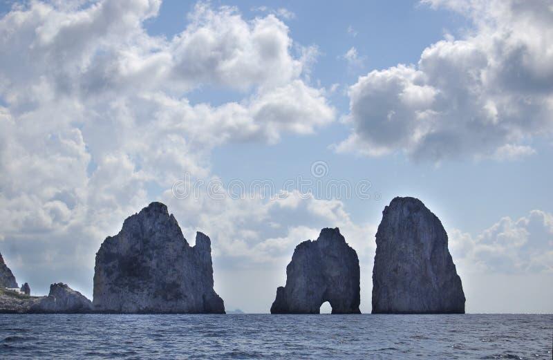 Love rocks. Picture was taken in capri, a beautiful island located in Amalfi coast. travel photography, beach, landscape, Anacapri royalty free stock image