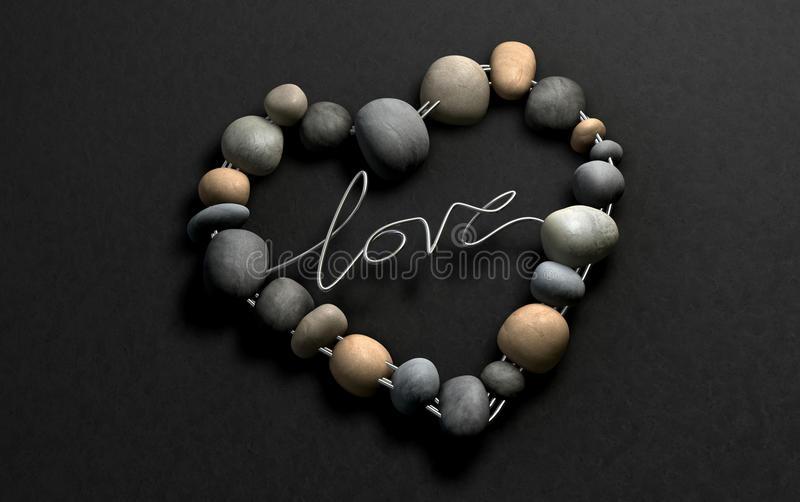 Download Love Rocks Your Heart, Naturally Stock Illustration - Image: 23851236