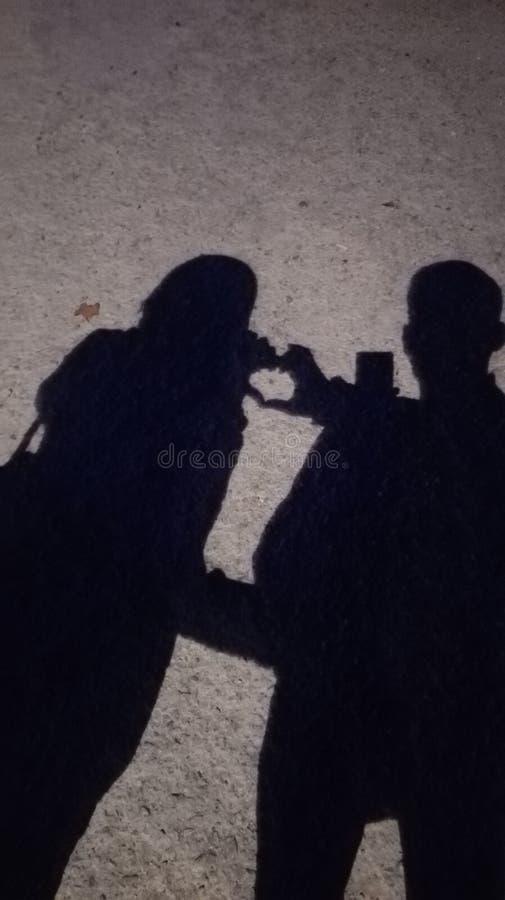 Love romantisch liefden nachtje maanlicht stock image