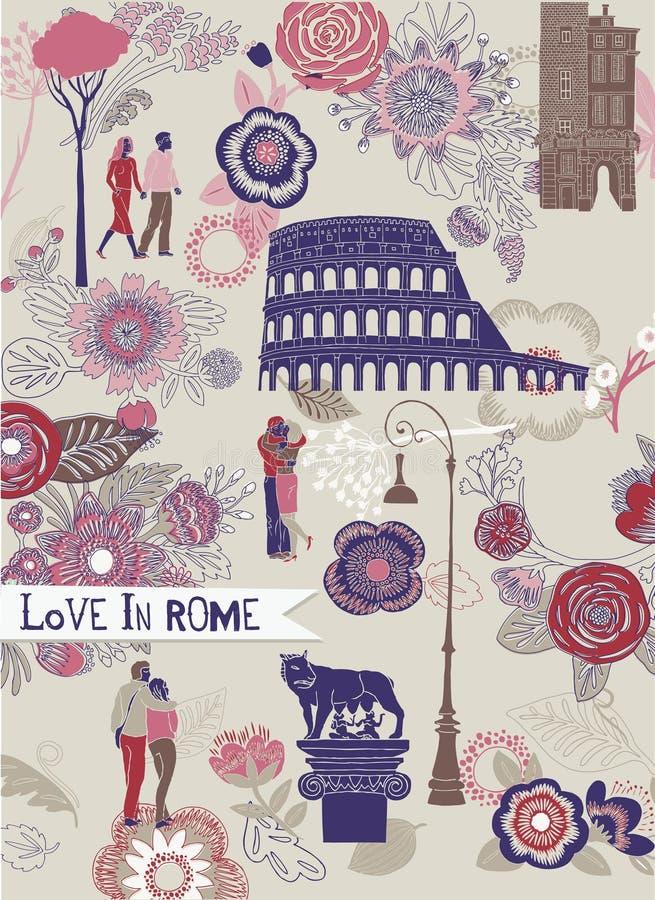 Love in Rome stock illustration