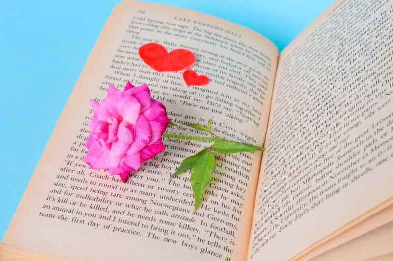 LOve Rose Book royalty free stock image