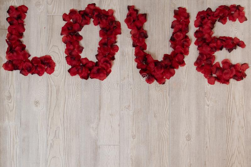 Love in Rose Petals stock photos