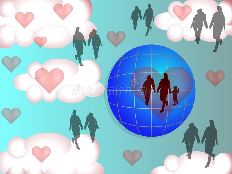 Love rules the World stock illustration