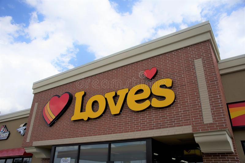 Love`s Travel Stop stock photos