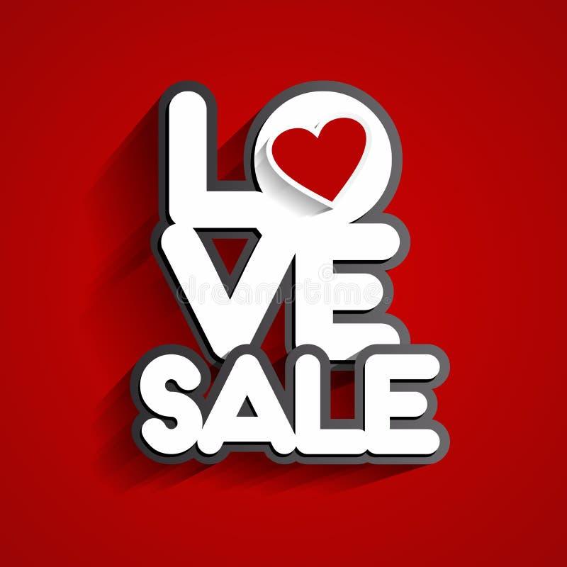 Love Sale royalty free illustration