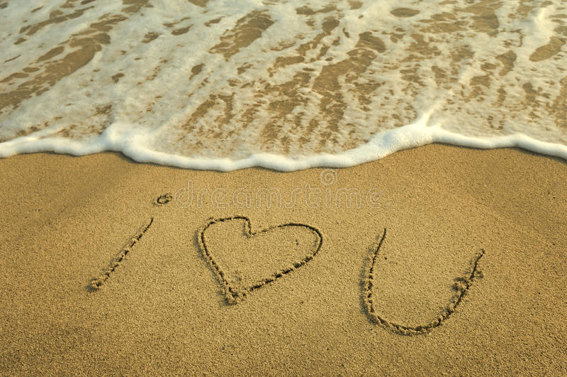 Download Love in the sand stock image. Image of concept, romance - 14859845