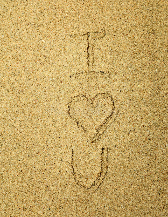 Download Love in the sand stock photo. Image of heart, relationship - 14860724
