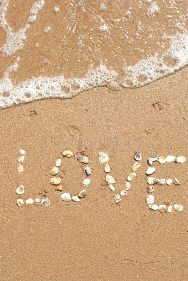 Love sand stock photos