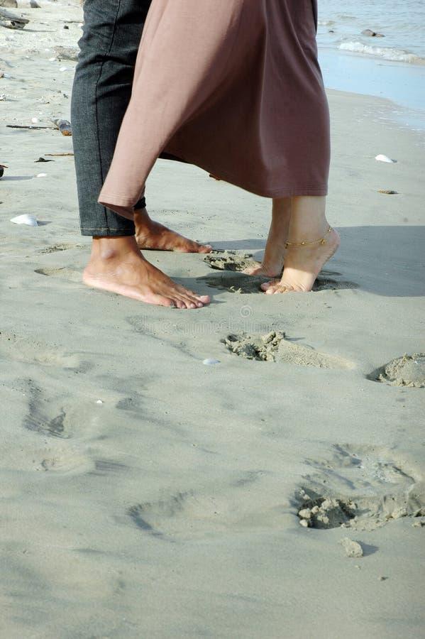 Love on the sand beach