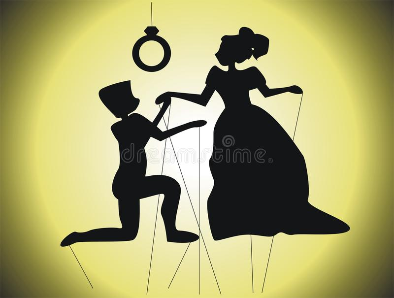 Download Love scene stock vector. Image of marriage, theater, romanticism - 31915338
