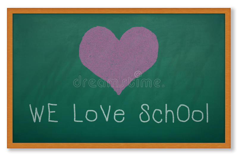 Download WE LOVE SCHOOL stock illustration. Image of earth, feeling - 24855830