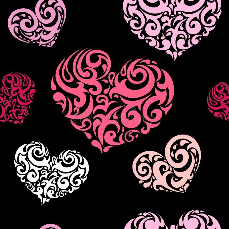 Love seamless background stock illustration